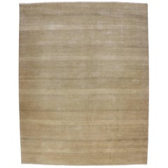 New Modern Transitional Neutral Tan Area Rug with Minimalist Contemporary Style