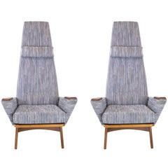 Pair of Slim Jim Lounge Chairs by Adrian Pearsall for Craft Associates