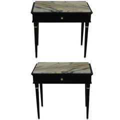 Pair of Stylish Mid-Century Nightstands