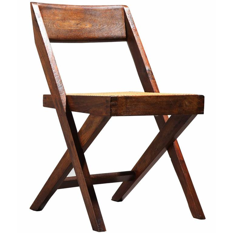 Pierre Jeanneret, Library Chair, circa 1959-1960 For Sale