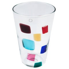 Murano Glass Vase Designed by Gianni Versace for Venini Glass
