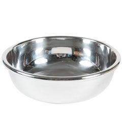 Large Silver Plate Bowl by Lino Sabattini