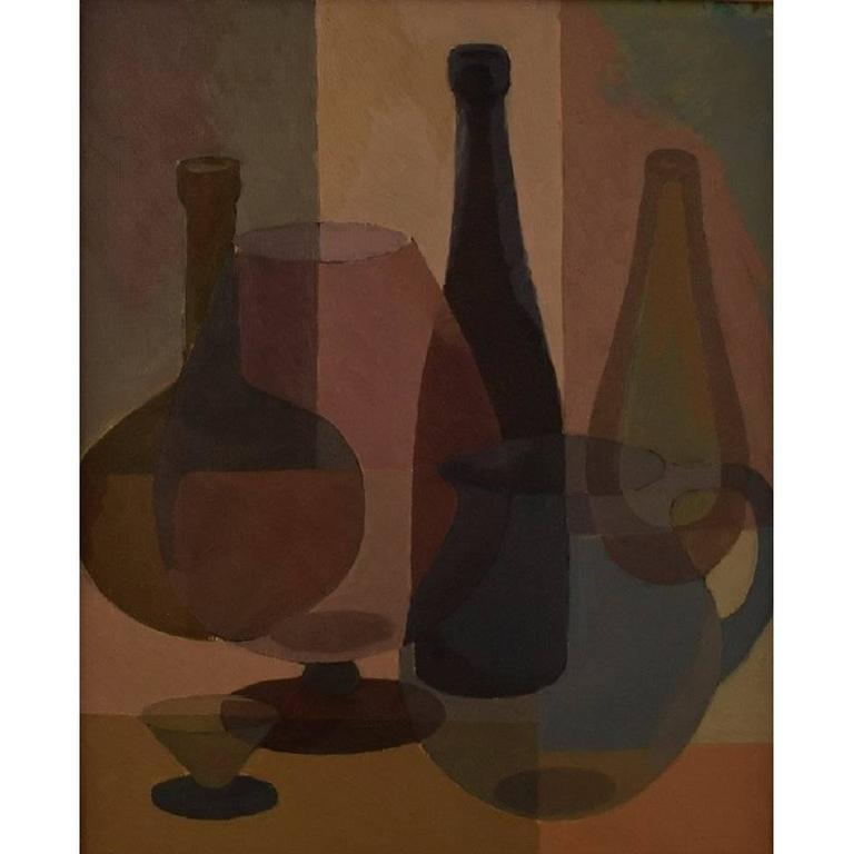 S. Lundgreen, Swedish Painter, Mid-20th Century, Oil on Board For Sale