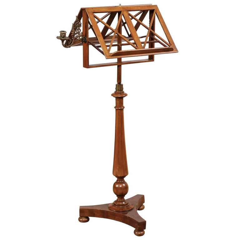 Duet Music Stand in Mahogany with Scone, 19th Century France