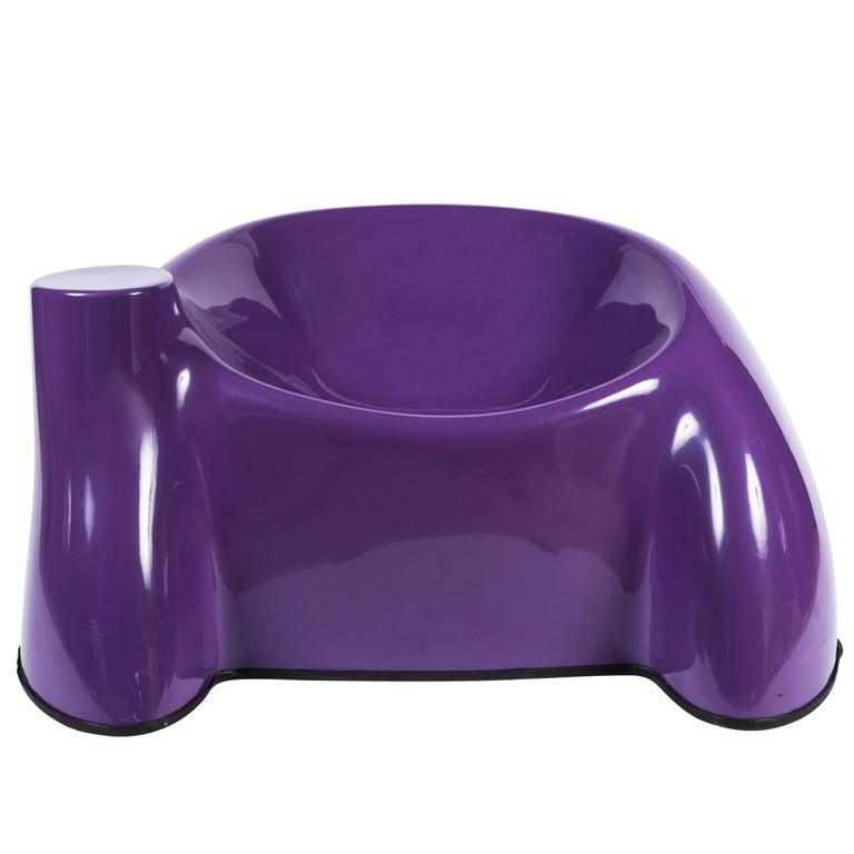 "Wendell Castle Purple ""Castle Chair"""