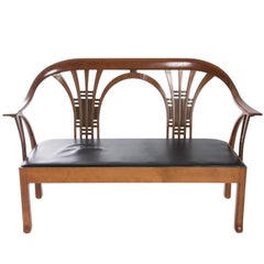 Cherrywood Contemporary Bench