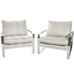 Milo Baughman Upholstered Chairs