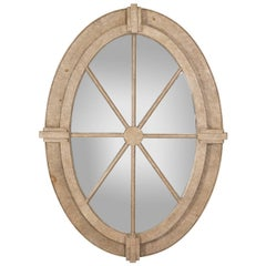 Painted Oval Window Frame Mirror
