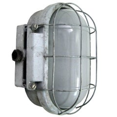 Cast Industrial Wall Ceiling Lamp, Frosted Glass (9x)