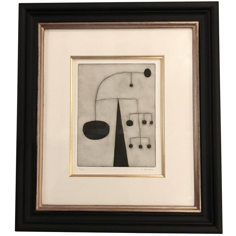 Etching by English Artist Oliver Gaiger, England, Contemporary For Sale