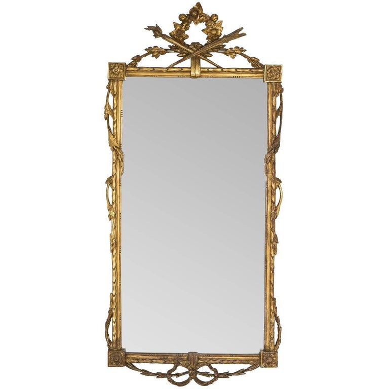 Neoclassical Mirror with Wheat Motif