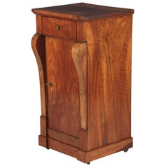 Restoration Period Walnut Bedside Cabinet, 1820s