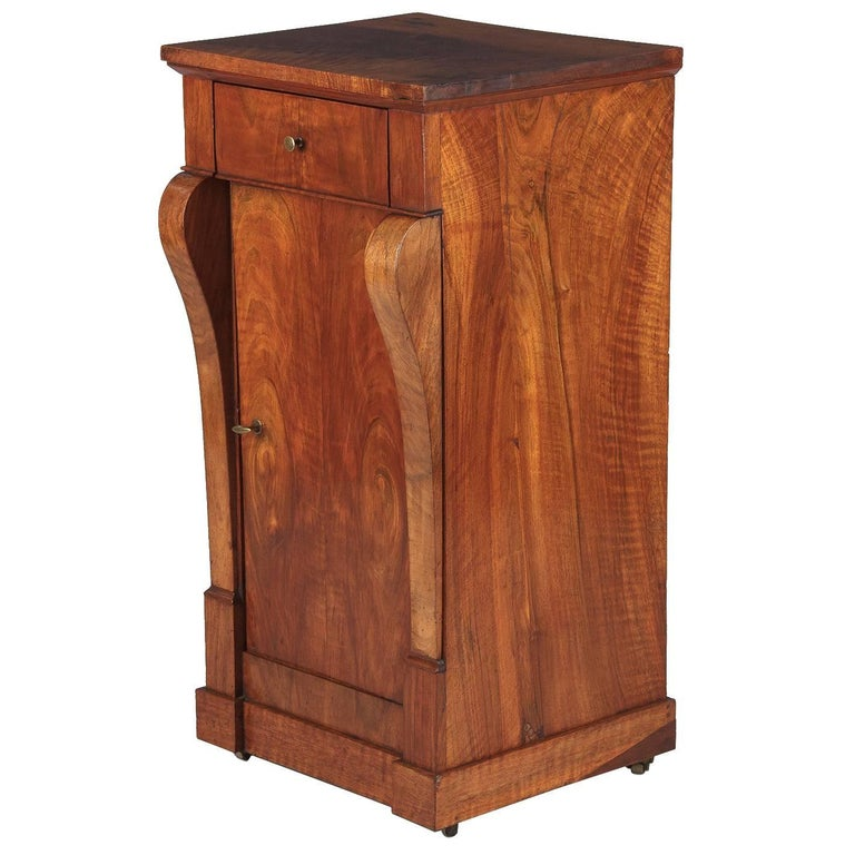 Restoration Period Walnut Bedside Cabinet 1820s For Sale At 1stdibs