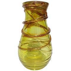 Studio Cristal Val Saint-Lambert Vase Signed Studio Cristal 1995 Belgium
