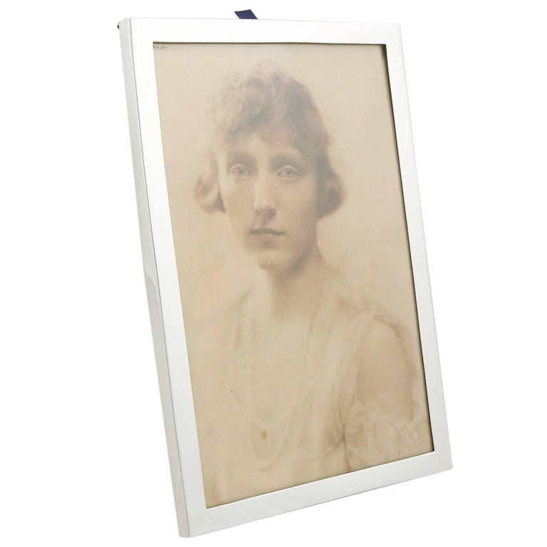 1915 Antique Sterling Silver Photograph Frame