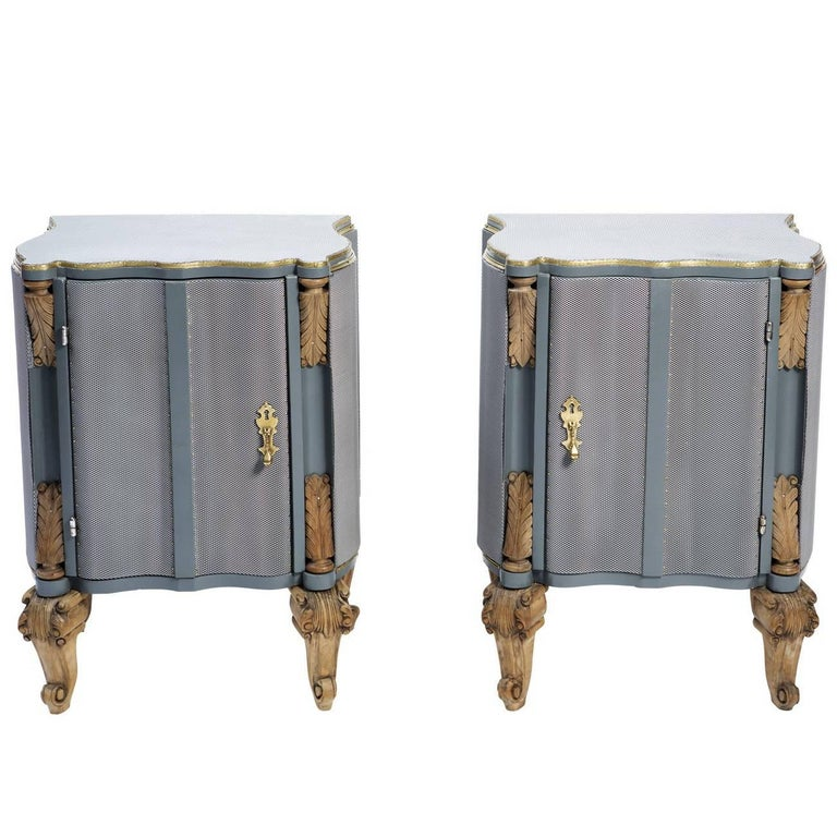 Set of Two Body Armor Nightstands