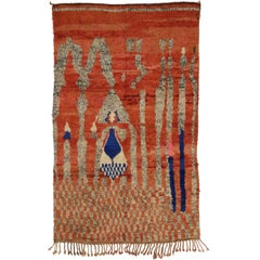Vintage Berber Moroccan Rug with Abstract Tribal Design