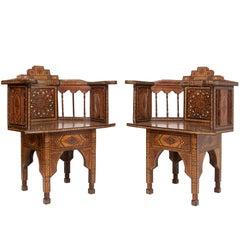 Pair of Syrian Moorish Style Chairs
