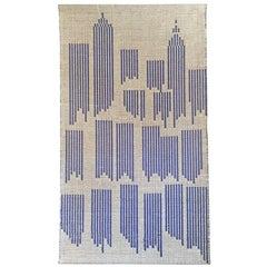 """Swedish """"Cityscape"""" Textile by I. Damast"""