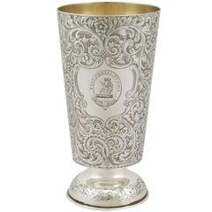 1870s, Indian Silver Vase