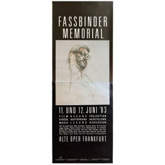 Rare Two-Piece Poster for R.W. Fassbinder Memorial in Germany, 1983
