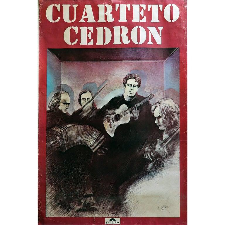 Cuarteto Cedron, Chances Poster 1977 Polydor, Argentina For Sale