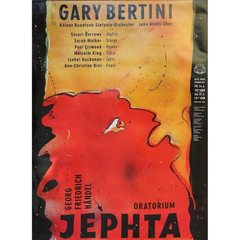 """Gary Bertini - Jephta"", Concert Poster 1985 Alte Oper Frankfurt, Germany For Sale"