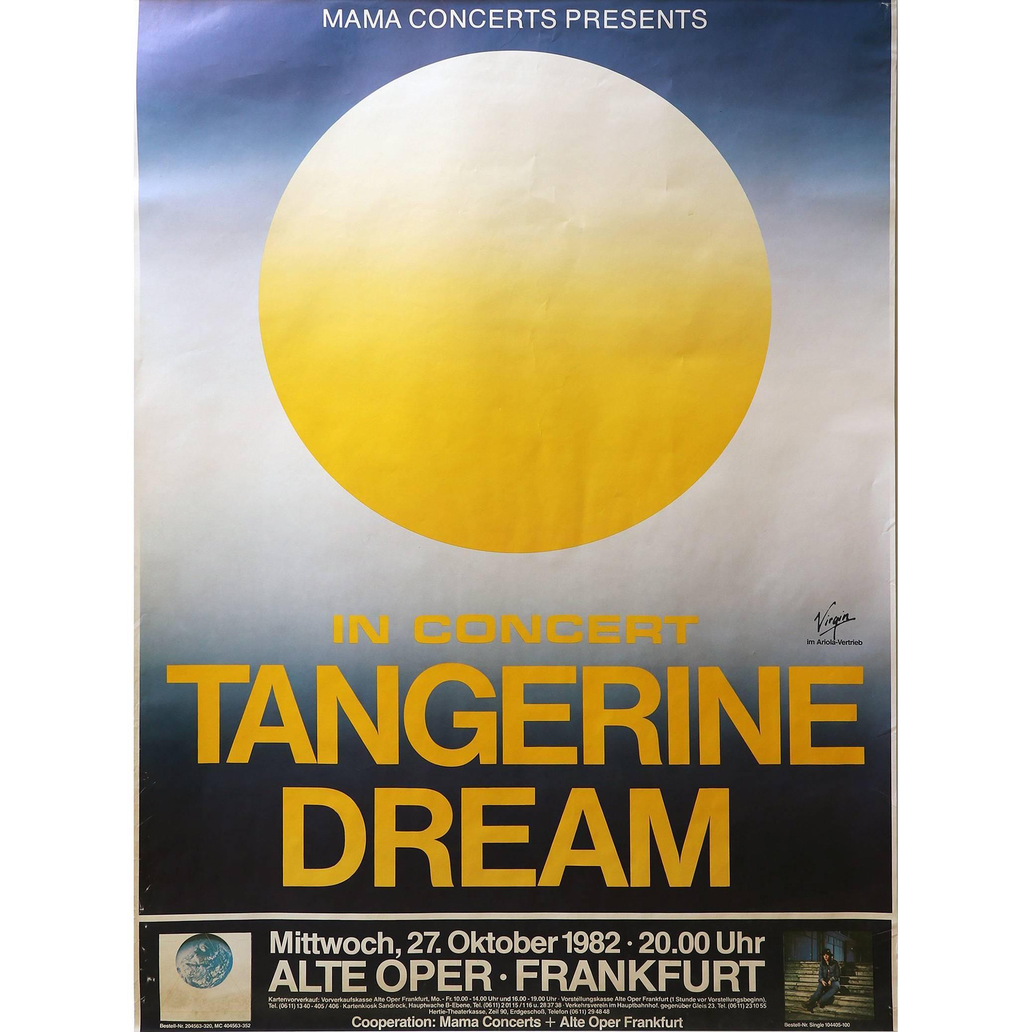 Tangerine Dream Concert Poster Alte Oper, Frankfurt, 1982