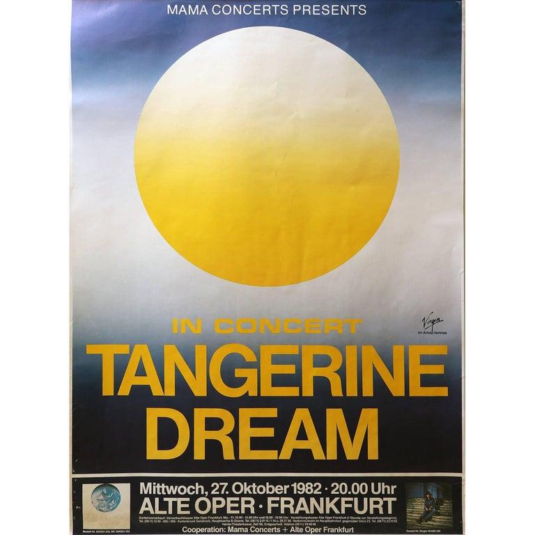 Tangerine Dream Concert Poster Alte Oper, Frankfurt, 1982 For Sale