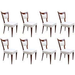 Paolo Buffa Designed Set of Eight Modernist Dining Chairs