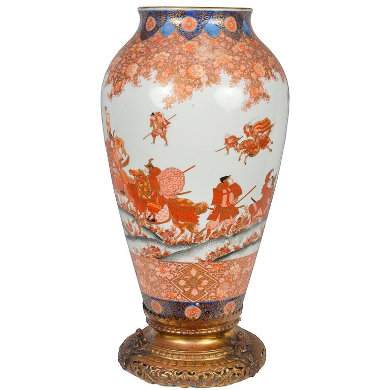 19th Century Japanese Fukagawa Karachi Vase or Lamp