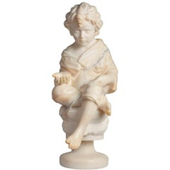19th Century Alabaster Figure of a Young Boy