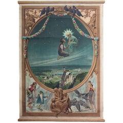 """Fairy Tale, """"Die sieben Raben"""", Wall Chart by Paul Hey, 1909"""