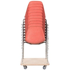 Eames Salmon DSS Stacking Side Chair for Herman Miller, Set of Ten
