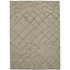 Modern Rug with Minimalist Style and High Low Pile, Two Layer Barjasteh Rug