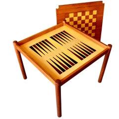 Teak Backgammon Game Table