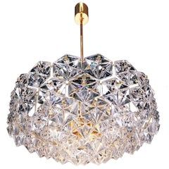 Large Gold-Plated Crystal Chandelier by Kinkeldey, Germany, 1960s
