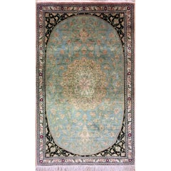 Magnificent Silk Rugs, Persian Rugs from Qum Pure Silk Carpet