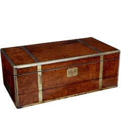 Unusual Burr Chinese Export Writing Box
