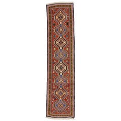 Vintage Yalameh Persian Carpet Runner with Modern Tribal Style