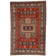 Antique Yerevan Rug with Modern Tribal Style, Russian Armenian Rug