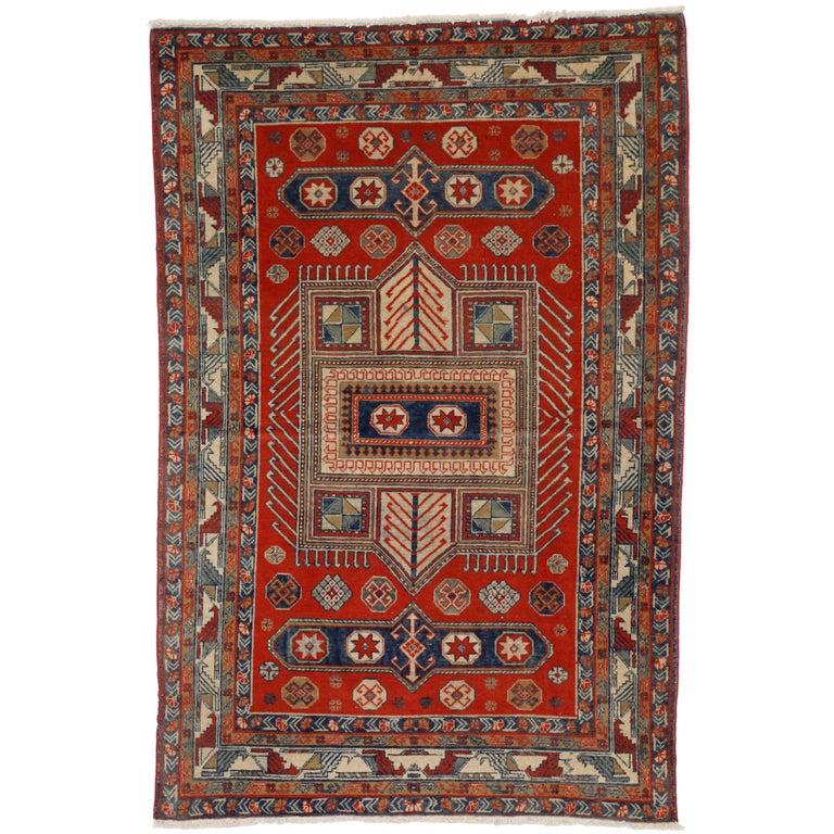 Antique Yerevan Rug with Modern Tribal Style, Russian Armenian Rug