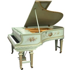 20th Century German Bluthner Grand Art Cased Piano Style Antoine Watteau
