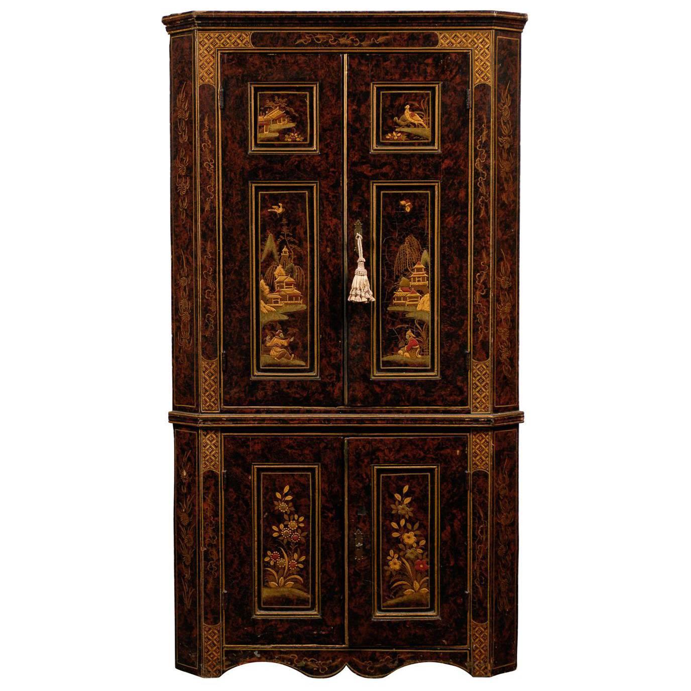 19th Century Chinoiserie Corner Cabinet
