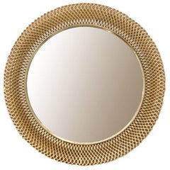 Austrian Metal Basket Mirror