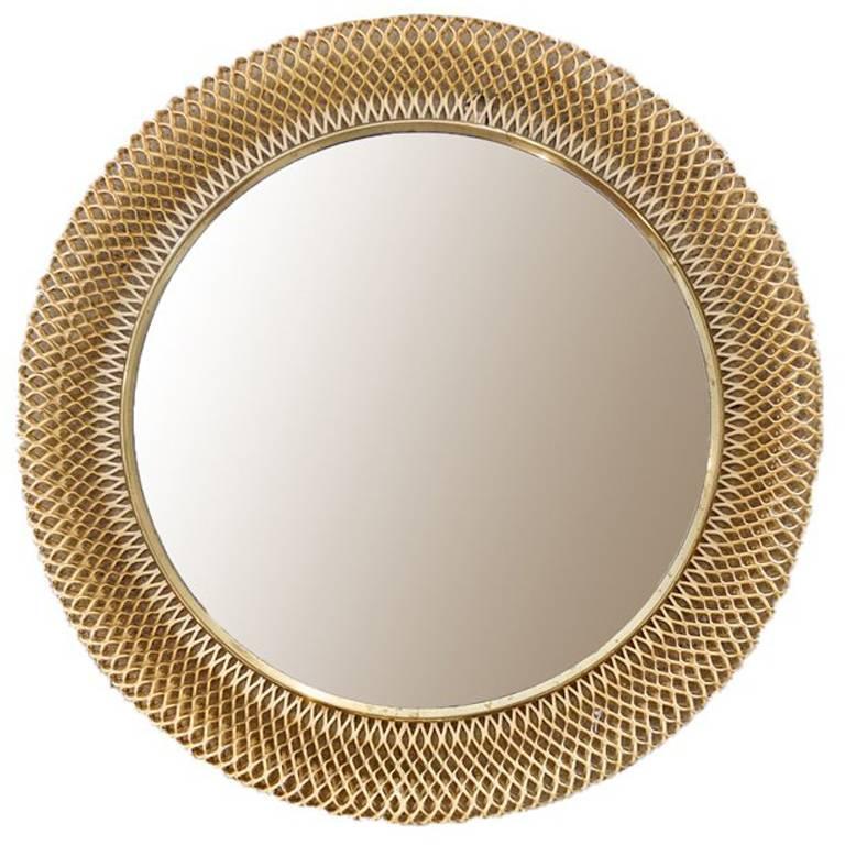 Austrian Metal Basket Mirror