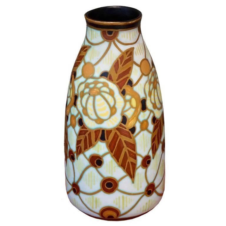 Charles Catteau Vase D.963 For Sale