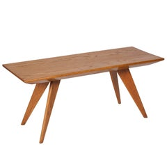 Oregon Pine Coffee Table by Andre Sornay, French, 1950s