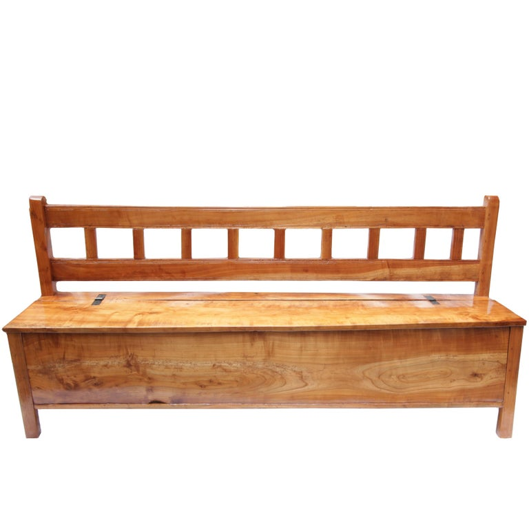 Antique Solid Cherrywood Bench For Sale At 1stdibs