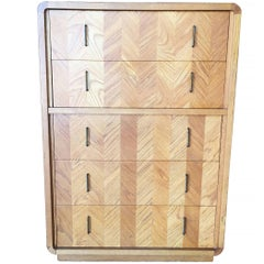 Lane Blonde Highboy Dresser, circa 1970